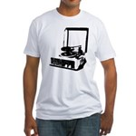Retro Record Player Fitted T-Shirt