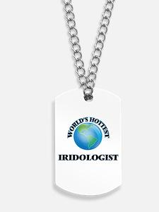 World's Hottest Iridologist Dog Tags