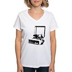 Retro Record Player Women's V-Neck T-Shirt