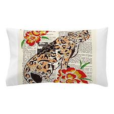 Snow Leopard in Summer Pillow Case