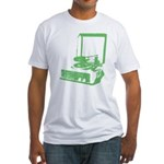 Retro Record Player Fitted T-Shirt - green