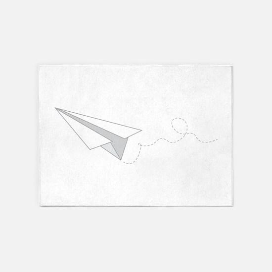 Paper Plane 5'x7'Area Rug