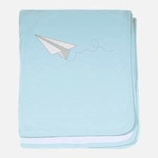 Paper Plane baby blanket