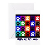 Vet tech Greeting Cards (10 Pack)
