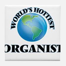 World's Hottest Organist Tile Coaster