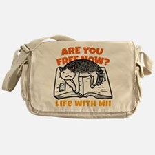 """Are you free now?"" Messenger Bag"