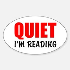 Quiet Im Reading Decal
