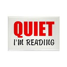 Quiet Im Reading Magnets