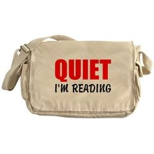 Quiet Im Reading Messenger Bag