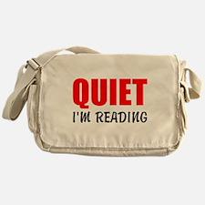 Quiet Im Reading Messenger Bag