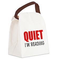 Quiet Im Reading Canvas Lunch Bag