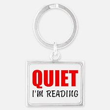 Quiet Im Reading Keychains