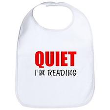 Quiet Im Reading Bib