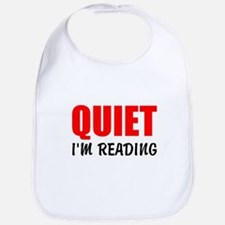 Quiet Im Reading Bib