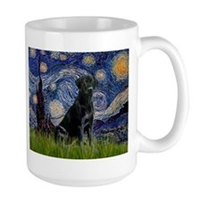 Starry Night with Black Labrador Mug