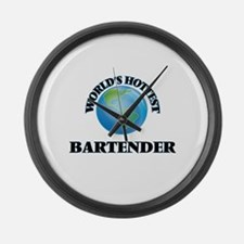 World's Hottest Bartender Large Wall Clock