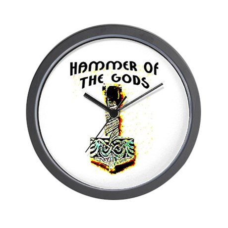 HAMMER OF THE GODS Wall Clock