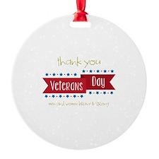 Thank You Veterans Ornament