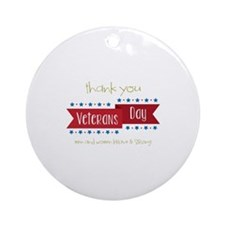 Thank You Veterans Ornament (Round)