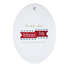 Thank You Veterans Ornament (Oval)