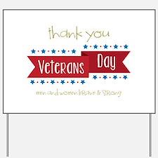 Thank You Veterans Yard Sign