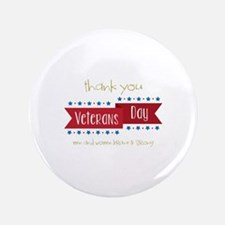 "Thank You Veterans 3.5"" Button (100 pack)"