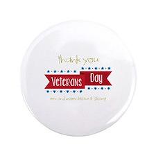 """Thank You Veterans 3.5"""" Button"""