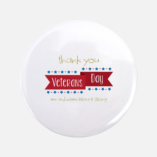 "Thank You Veterans 3.5"" Button"