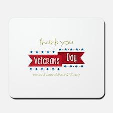Thank You Veterans Mousepad