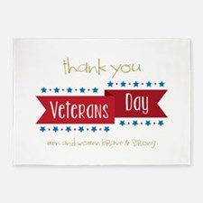 Thank You Veterans 5'x7'Area Rug