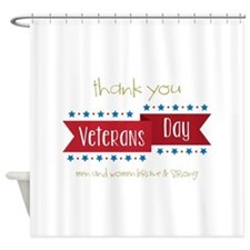 Thank You Veterans Shower Curtain