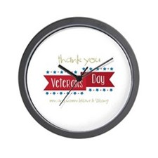 Thank You Veterans Wall Clock