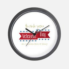Thank You Veterans Wall Clock