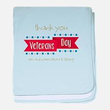 Thank You Veterans baby blanket