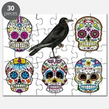 Sugar Skull By Design With Raven Puzzle