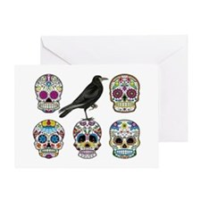 Skull By Design with Raven Greeting Cards