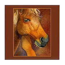 Golden Horse Tile Coaster