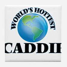 World's Hottest Caddie Tile Coaster