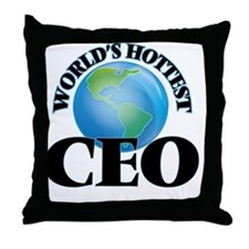World's Hottest Ceo Throw Pillow