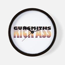 Gunsmiths Kick Ass Wall Clock