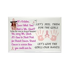 Breast Cancer Think Pink Duo Rectangle Magnet