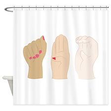 Hand Gestures Shower Curtain