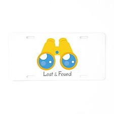 Lost Found Aluminum License Plate