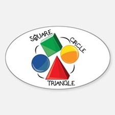 Square Circle Triangle Decal