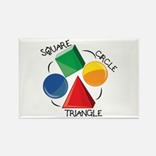 Square Circle Triangle Magnets