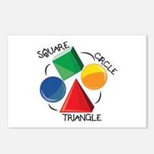 Square Circle Triangle Postcards (Package of 8)