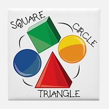 Square Circle Triangle Tile Coaster