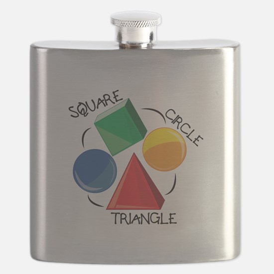 Square Circle Triangle Flask