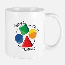 Square Circle Triangle Mugs