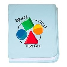 Square Circle Triangle baby blanket